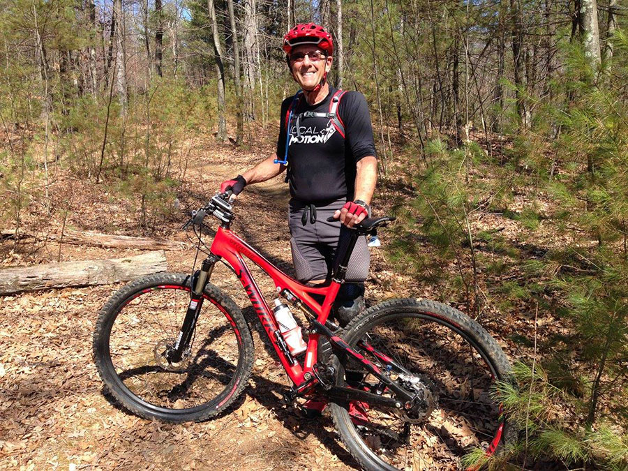 With private coaching Steve (in his 70s) learns to MTB